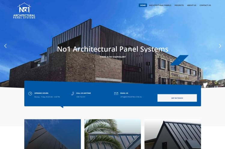 Architectural Panels Website - Sydney