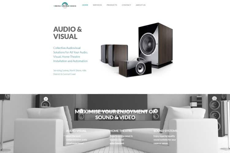 Audio Visual Installation Website - Central Coast