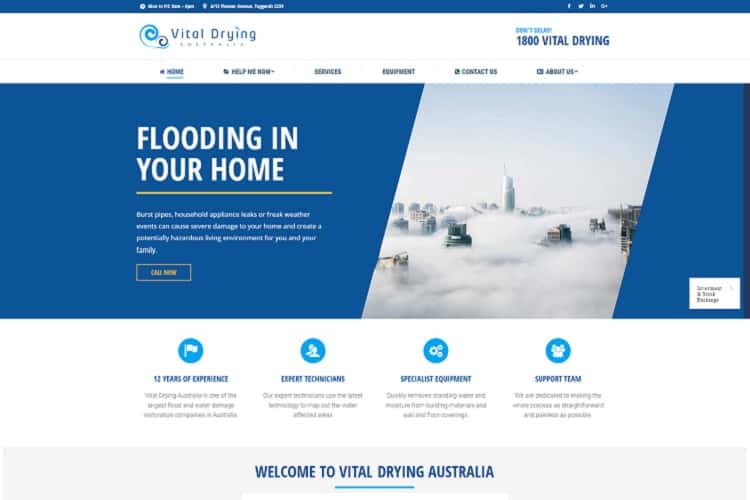 Flood Damage Restoration Website - Central Coast