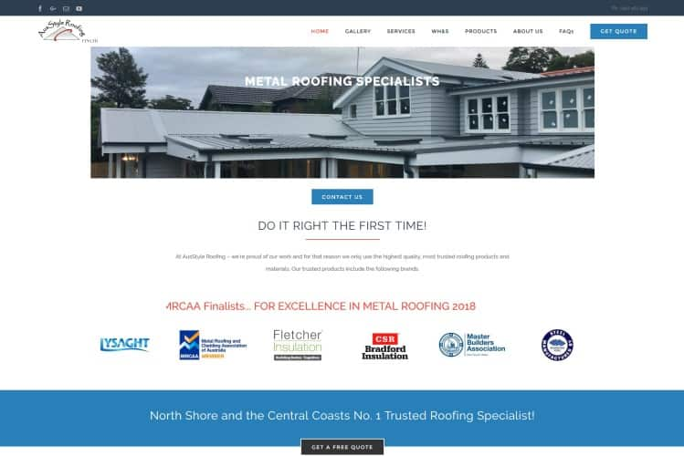 Metal Roofing Trade Website - Central Coast