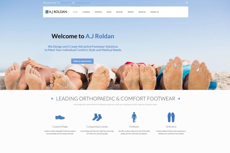 Orthotic Shoes Medical Website - Central Coast