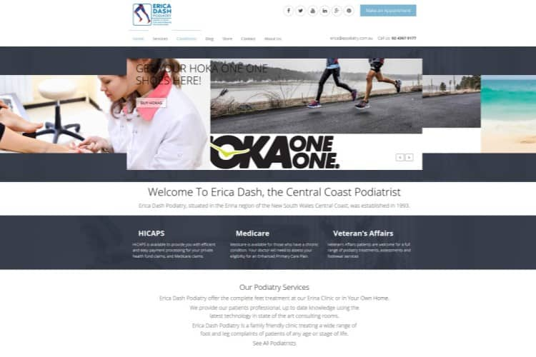 Podiatry Medical Website - Central Coast