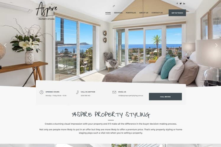 Property Staging Website - Central Coast