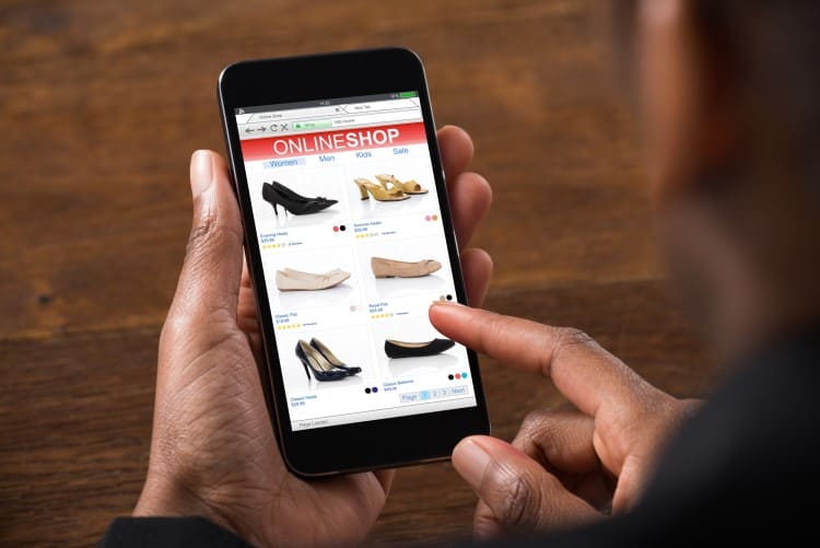 eCommerce websites designed for mobile phones