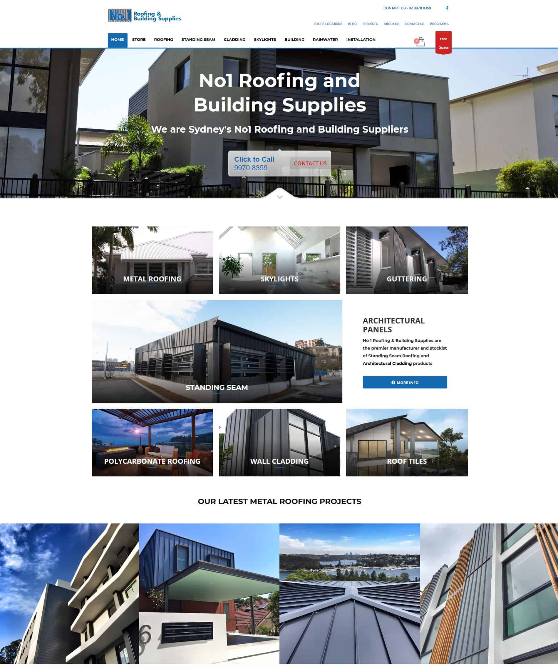 Roofing Supplies Tradie Website Example